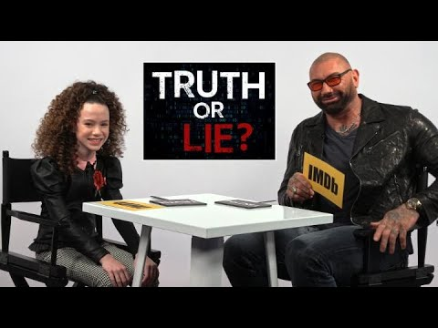 "Dave Bautista and Chloe Coleman Play ""Truth or Lie"""