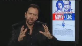 Nonton Nicolas Cage Interview for 'Army Of One' (2016) Film Subtitle Indonesia Streaming Movie Download