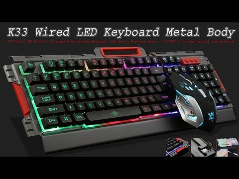 K33 Wired LED Keyboard Review