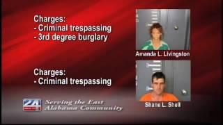 Two Charged With Criminal Trespassing
