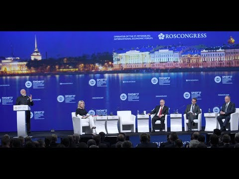 PM at Plenary session of St. Petersberg International Economic Forum, Russia