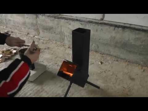 Ракетная походная печь своими руками
