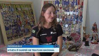 Atleta de Pederneiras vence competição nacional de triátlon