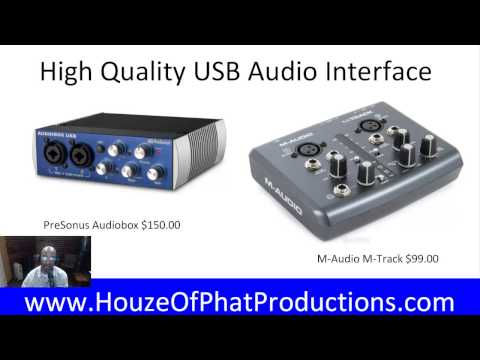 Remote Studio Audio Recording With Houze Of Phat Productions