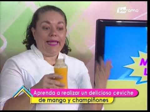 Aprenda a realizar un delicioso ceviche de mango y champiñones