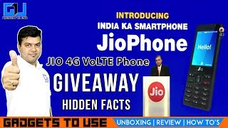 We are giving away a JIO Zero Rupee feature phone, please like this video, leave a comment or question for JIO Feature Phone, we have also highlighted some important hidden aspects of this phone. Jio Phone For Free, Jio Phone TV Cable, Plans, Availability & Offers, Giveaway.Jio Phone is finally announced as India ka smartphone. This is a 4G VoLTE enabled feature phone from Reliance Jio.  It will be available for Rs 0 effectively but you need to deposit 1500 INR as security. We hope you liked this video, to get notified, subscribe for free at http://goo.gl/ZgmTjE also, make sure to like this video and share if it can help other people. Add Abhishek As Friend on:Twitter: https://goo.gl/eEdJO3Facebook: https://goo.gl/VJLdDlInstagram: https://goo.gl/ZA75hSAbhishek Facebook Page: https://goo.gl/SPbQVP--Add Gadgets To Use As Friend on:--Facebook Page: https://goo.gl/AzdyXjTwitter: https://goo.gl/gv2Ob5 Instagram: https://goo.gl/09gnZt--Best Smartphone Offers: Best Phone Deals on Flipkart - http://goo.gl/pft2ueBest Phone Deals on Amazon - http://goo.gl/2nMKvI3. About GadgetsToUse:Visit http://www.gadgetstouse.com to read more detailed reviews, unboxing, hands on and overview of smartphones, tablets, tech and gadgets. We also post full review of gadgets and accessories on our website. 4. India RankGadgetsToUse youtube channel comes under Top Tech Youtube Channels in India for gadgets reviews, news and tips, tutorials. MY YOUTUBE GEAR --MY BIG CAMERA: http://goo.gl/J2P2AJ DIGITAL NOTEPAD I USE http://goo.gl/RD325n (Amazon US)  Amazon India ( http://goo.gl/x1ZdPQ )MY DSLR MIC: http://amzn.to/2dNrsQoMY MIC: http://goo.gl/8NlqDJMY CAR TRIPOD: http://amzn.to/2aGpotnMY OTHER PHONE TRIPODS: http://fkrt.it/vtgsBNNNNN MY SMALL TRIPOD: http://goo.gl/zpii2jMY SMALL CAMERA: http://goo.gl/MrvhvWSECOND MIC: http://goo.gl/aFWhnGMY TABLE TRIPOD: http://goo.gl/k9fvCUCHEAPER ACTION CAMERA: - http://goo.gl/pMFRJjSMARTPHONE TRIPOD: http://goo.gl/96EVtpMY DESKTOP MIC: http://goo.gl/iSVQN7MY VLO