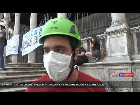 LAVORATORI DELLO SPETTACOLO IN PIAZZA PER CHIEDERE DIGNITA'   22/05/2020