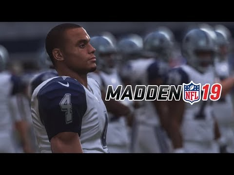 Madden 19 Dallas Cowboys vs Houston Texans Gameplay