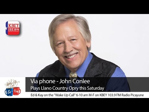 John Conlee joined the KBEY morning show on the this morning to tell us about his TWO shows this Saturday at the LLANO Country OPRY!