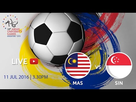 Malaysia vs Singapore at the 18th ASEAN University Games Singapore 2016