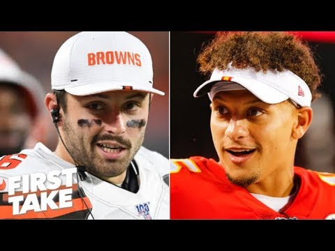Video: Which QB has more superstar potential: Baker Mayfield or Patrick Mahomes? | First Take