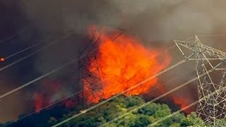 New fires erupt in California as heat wave sears the West