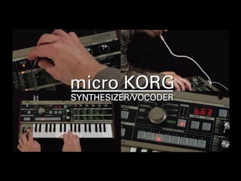 korg - Take a closer look at the microKORG; Korg's compact analog modeling synthesizer with an outrageous Vocoder built right in -- we even include a cool gooseneck...