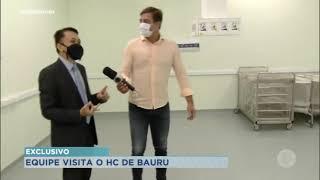 Equipe de reportagem da RecordTV Paulista entra no Hospital das Clínicas