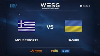 Mousesports vs UAshki, WESG 2017 Dota 2 European Qualifier Finals