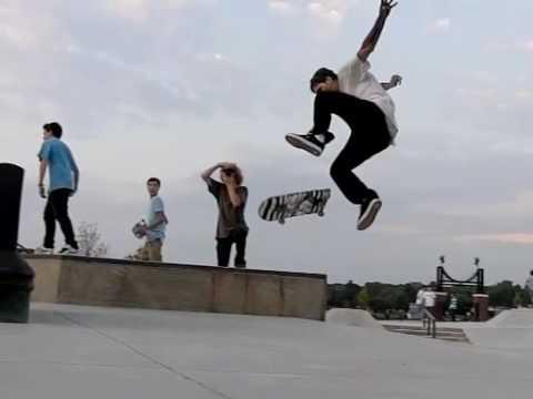 Slow motion skateboarding 6: Riley skatepark again