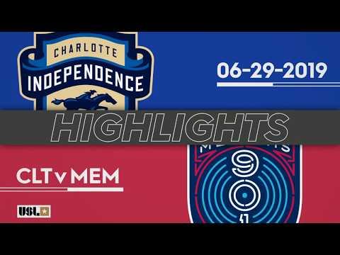 Шарлотт Индепенденс - Memphis 1:0. Видеообзор матча 30.06.2019. Видео голов и опасных моментов игры