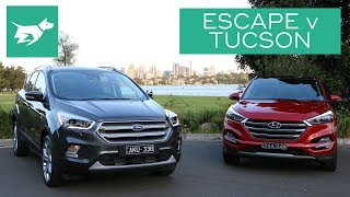 Which of these two medium SUVs is best? See who wins our Tucson vs Escape comparison –and let me know which you like best below! SUBSCRIBE and join our car community! http://www.youtube.com/user/chasingcarsaustralia?sub_confirmation=1Compares interiors, practicality, price, and driving of the Ford Escape vs Hyundai Tucson.COMMENT your thoughts below and SHARE with your friends.READ our full 2017 Hyundai Tucson diesel vs 2017 Ford Escape diesel test here: http://chasingcars.com.au/Australian video car review of the 2017 Ford Escape and 2017 Hyundai Tucson. See more video car reviews and Ford news and Hyundai news at http://chasingcars.com.au.Music by Nicolai Heidlas:https://soundcloud.com/nicolai-heidlas
