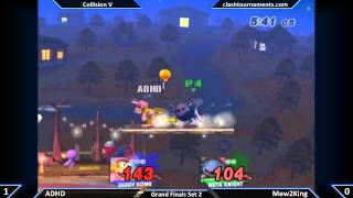 ADHD (Diddy) vs Mew2King (Meta Knight) Collision V Grand Finals