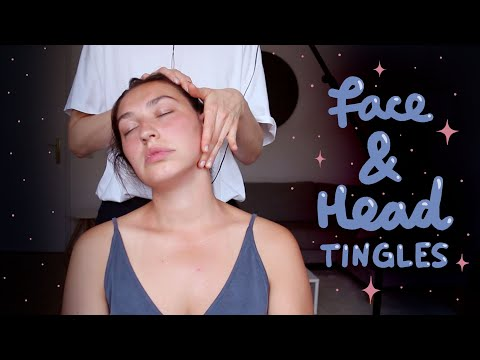 ★・Face & Head Tingles ・★ Face, Scalp & Neck Massage • partly with gloves [no talking]