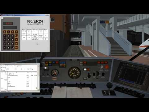Zusi 3 Hobby bedienen: Manuelle Zugdateneingabe bei I60/ER24