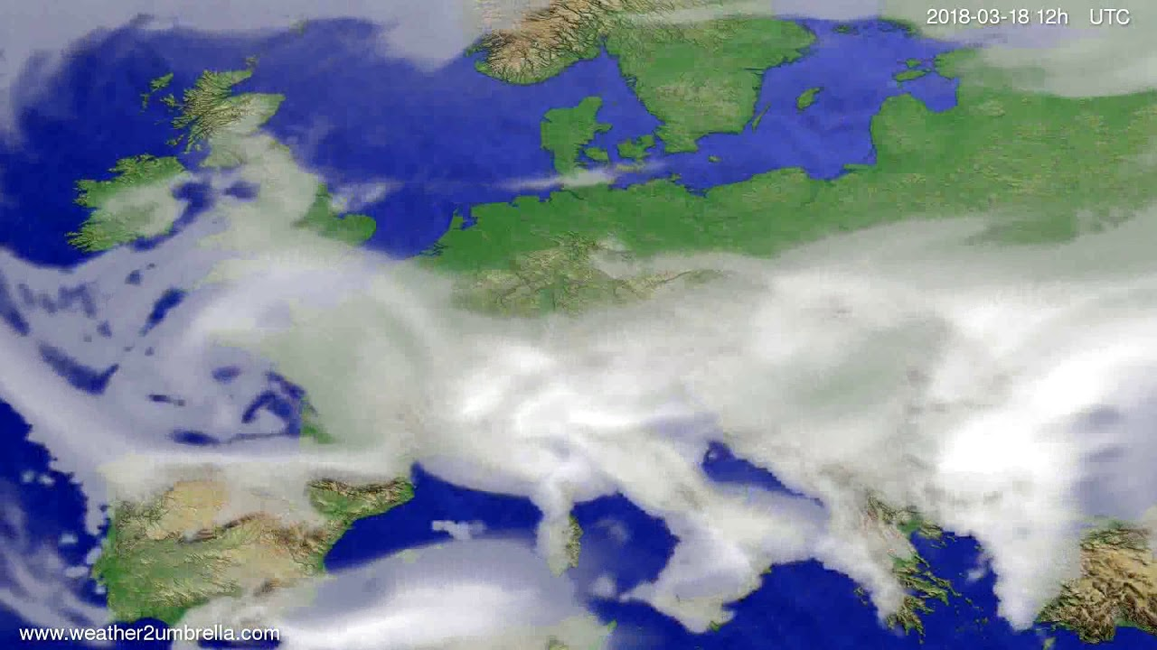 Cloud forecast Europe 2018-03-14