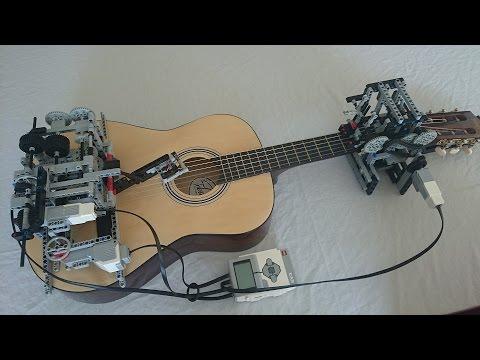 超猛樂高玩家打造會彈吉他的機器人!