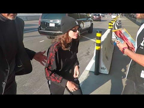 Kaia Gerber Is A Fashion-Forward 'Hellraiser' At LAX!