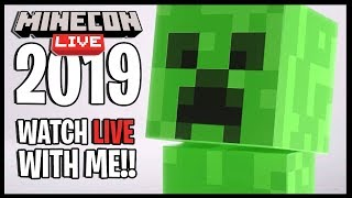 MINECON LIVE 2019!! | Watch Minecon Live With Me!! | MINECRAFT 1.15 REVEAL!! + BIOME VOTE!!