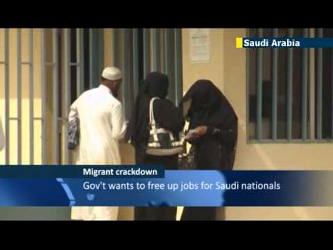 Saudi Arabia crackdown on illegal worker