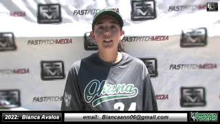 2022 Bianca Avalos Athletic Outfield Softball Skills Video - Ohana Tigers