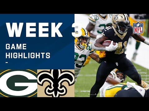 Packers vs. Saints Week 3 Highlights | NFL 2020
