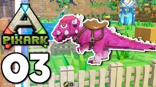 PixARK • Taming The Derps! PACHY & PARASAUR TAME (Ep.03)
