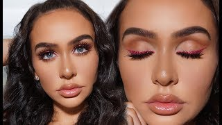FULL FACE DRUGSTORE VALENTINE'S DAY MAKEUP +HAIR! by Carli Bybel