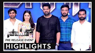 Saaho Pre Release Event Highlights | Prabhas | Shraddha Kapoor | Sujeeth