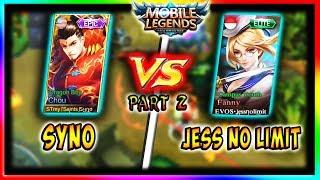 "Download Video ""1vs1 Chou vs Fanny with JessNoLimit Top 1 Global Season 6 (Part 2)""   Mobile Legends   1vs1 Series MP3 3GP MP4"