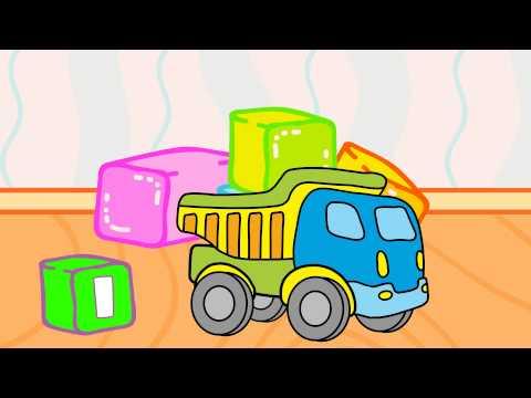 Lernen und malen – Meine Lieblingsspielsachen – Lastwagen und Bulldozer