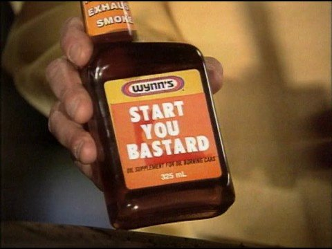 Wynn's 'Start You Bastard' Engine Additive Advert