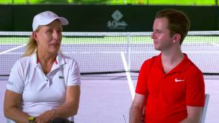 """Martina Navratilova talks about her experience on """"Dances With The Stars,"""" and how dancing and playing doubles tennis is similar.Click here to get a free preview of Martina's """"Doubles At Any Age"""" coaching program:http://www.fuzzyyellowballs.com/youtuberedirect/?video=cY7ly5ELP1o"""