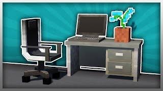 •️ MrCrayfish's Furniture Mod: Computer Desk (The Modern Update)