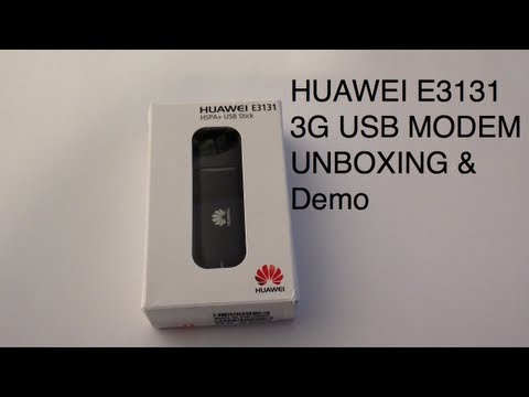 HUAWEI E3131 3G USB STICK MODEM 21.6 Mbps - Unboxing, setup and demo