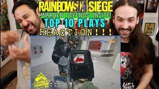 RAINBOW SIX SIEGE   Top 10 Plays   WARDEN DEFENDS ONSITE - REACTION!!!