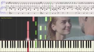 SanSay - Выше головы (Ноты и Видеоурок для фортепиано) (piano cover)