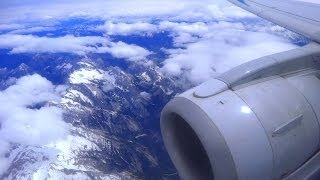 Fast motion Video from flight Bologna to Munich. Zeitraffer-Video vom Flug Bologna nach München