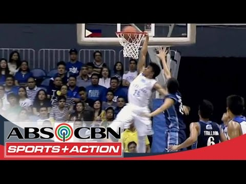 Kiefer - King Eagle, Kiefer Ravena takes it strong, posterizes 2 Falcons in a nasty slam! Subscribe to the ABS-CBN Sports + Action channel! - http://goo.gl/J3vddM Vis...