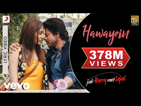Hawayein - Official Lyric Video | Anushka | Shah Rukh | Pritam | Arijit