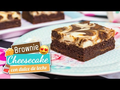 Brownie cheesecake con dulce de leche | Quiero Cupcakes!