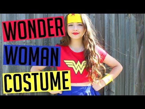DIY Wonder Woman Halloween Costume