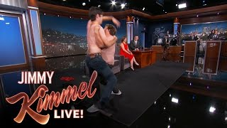 """Two """"Game of Thrones"""" nerds interrupt Emilia's interview to fight for her honor. SUBSCRIBE to get the latest #KIMMEL: http://bit.ly/JKLSubscribe Watch the latest ..."""