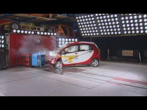 El Coche Eléctrico Mitsubishi i-Miev pasa las Pruebas de Choque